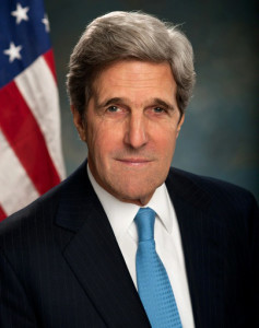"United States Secretary of the State John Kerry, uproars Israel on Sunday after warning that the country, through its continued West Bank occupation, will become a ""binational state"" (Wikipedia photo)"