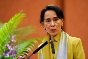 Myanmar's newly elected president Aung Suu Kyi (Internet photo)