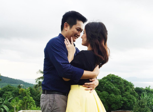 """Can't wait to say yes to forever with you."" - Camille Prats (Instagram photo)"