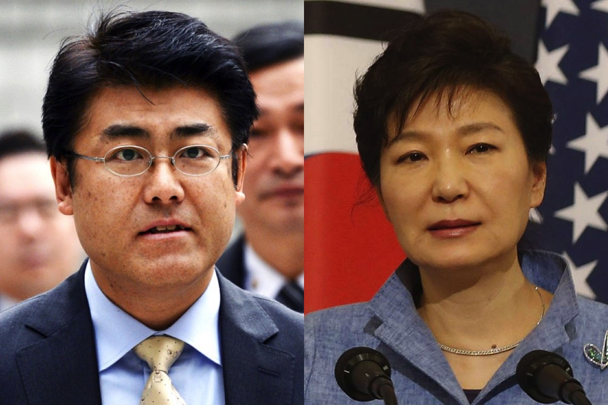 Japanese reporter Tatsuya Kato (left) charged of defaming South Korean President Park Geun-hye (right) (Internet photo)
