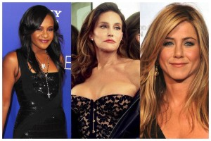 Bobbi Kristina Brown, Caitlyn Jenner, and Jennifer Aniston (Photos taken from the internet)