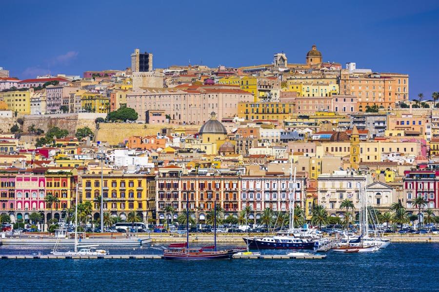 Cagliari, Sardina, Italy cityscape. (Photo from Sardinia Italian Studies website)