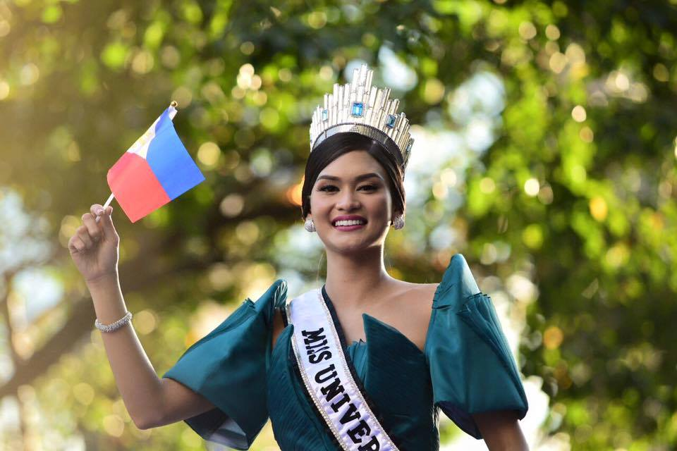 Miss Universe 2015 Pia Wurtzbach (Photo taken from Pia Wurtzbach's official Facebook fan page)