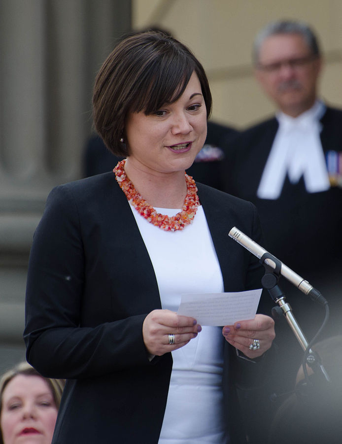 Alberta Environment Minister Shannon Phillips. (Photo from Wikipedia/Connor Mah)