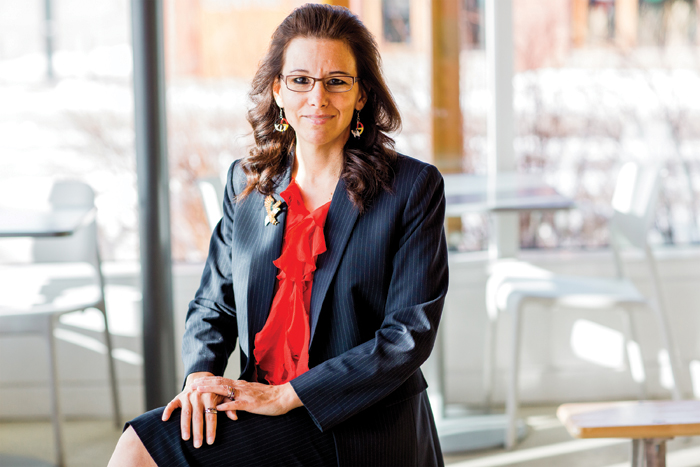 Angelique EagleWoman, first aboriginal woman appointed as dean of Canadian law school (Photo courtesy of Lakehead University website)