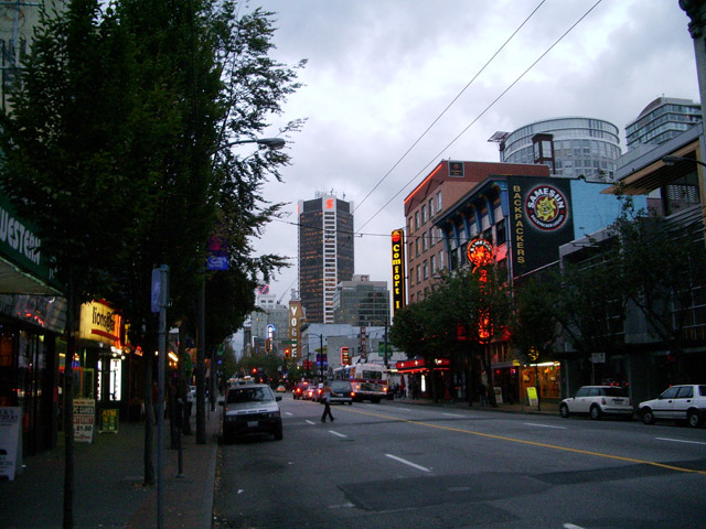 A Northbound View of Granville Street, Downtown Vancouver. (Image and caption  provided by Wikipedia/Michael G. Khmelnitsky)