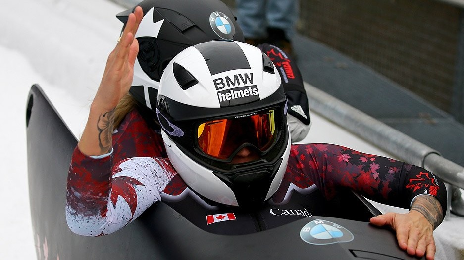 Bobsledder Kaillie Humphries (Photo from the official Twitter account of CBC Olympics)