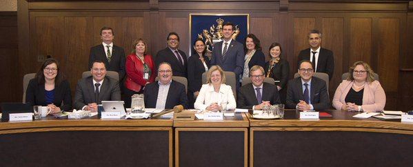 Naheed Nenshi and Don Iveson meet with the NDP cabinet Tuesday in Edmonton (Twitter photo)