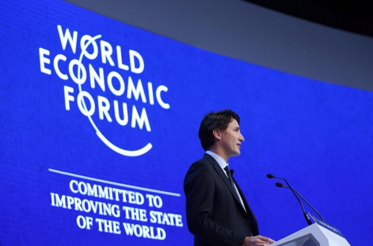 Prime Minister Justin Trudeau at the 2016 Word Economic Forum in Davos, Switzerland (Photo from PM Trudeau's official Twitter account)