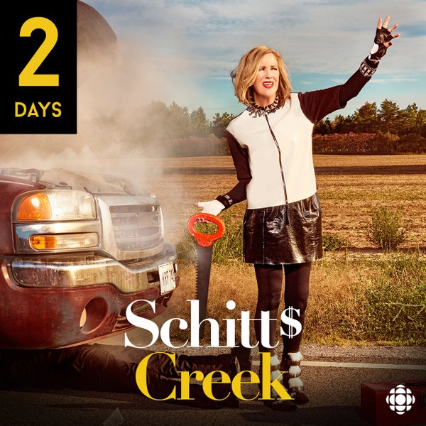 CBC's Schitt's Creek will return to TV in January 12. (Photo courtesy of the official Twitter account of Schitt's Creek)