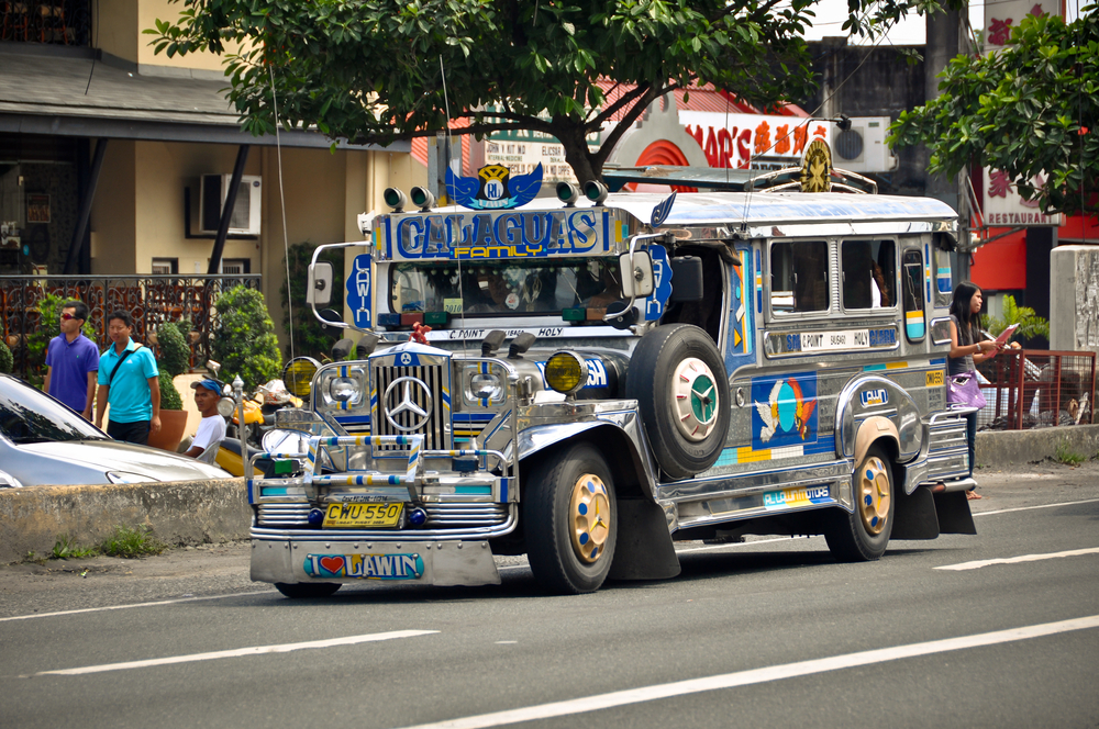 Jeepneys are the most popular means of public transportation in the Philippines.(Photo from ShutterStock/Donatas Dabravolskas)
