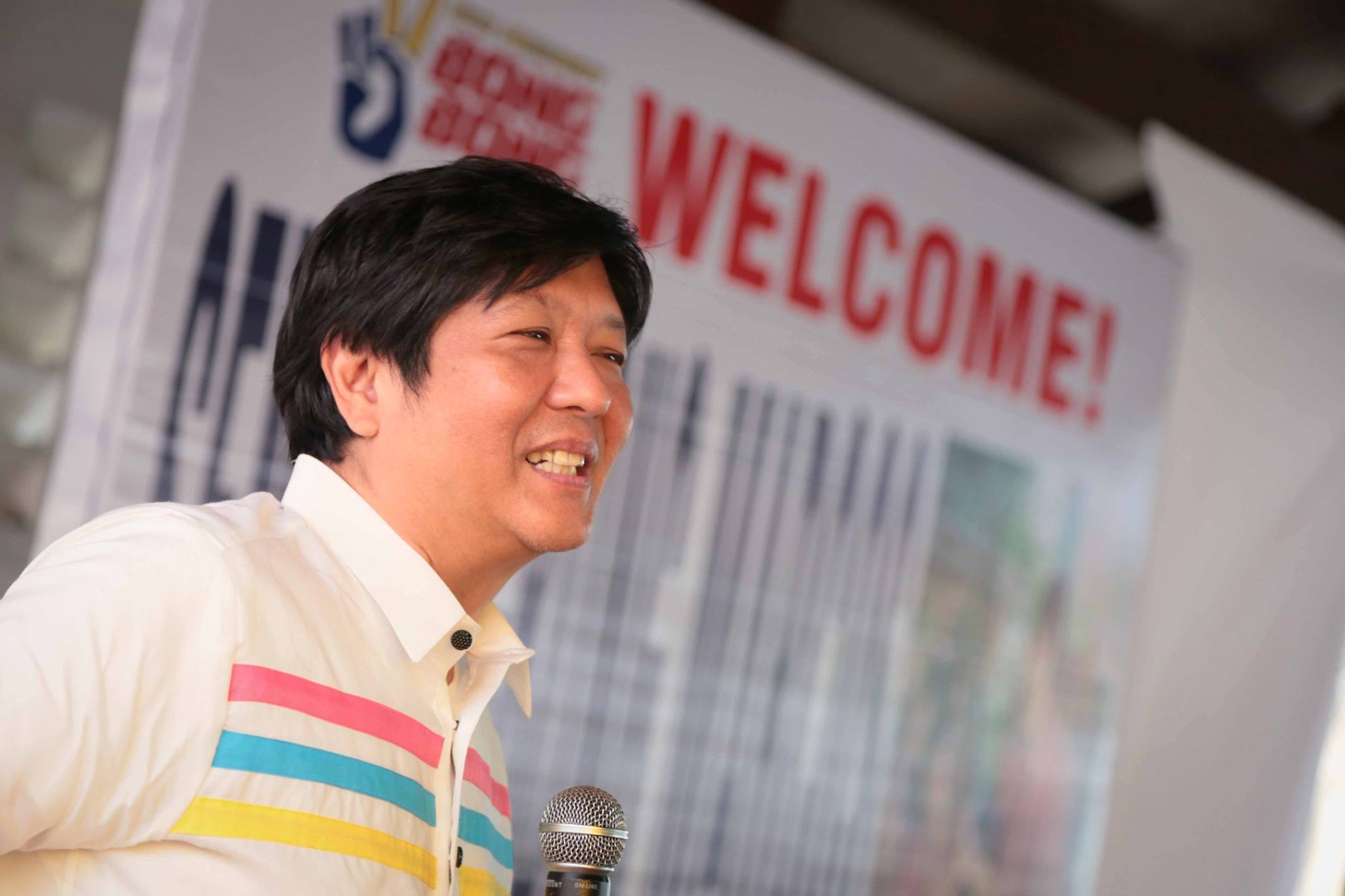 "Vice-presidential candidate Ferdinand ""Bongbong"" Marcos Jr. (Photo from the official Facebook page of Sen. Marcos)"