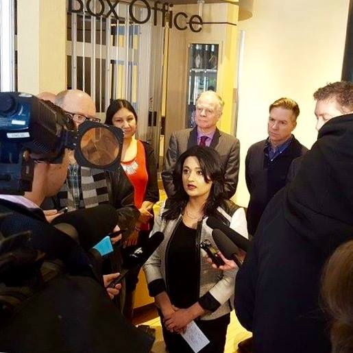 Liberal Leader Rana Bokhari announced a plan to set up an advisory council on the arts. (Facebook photo)