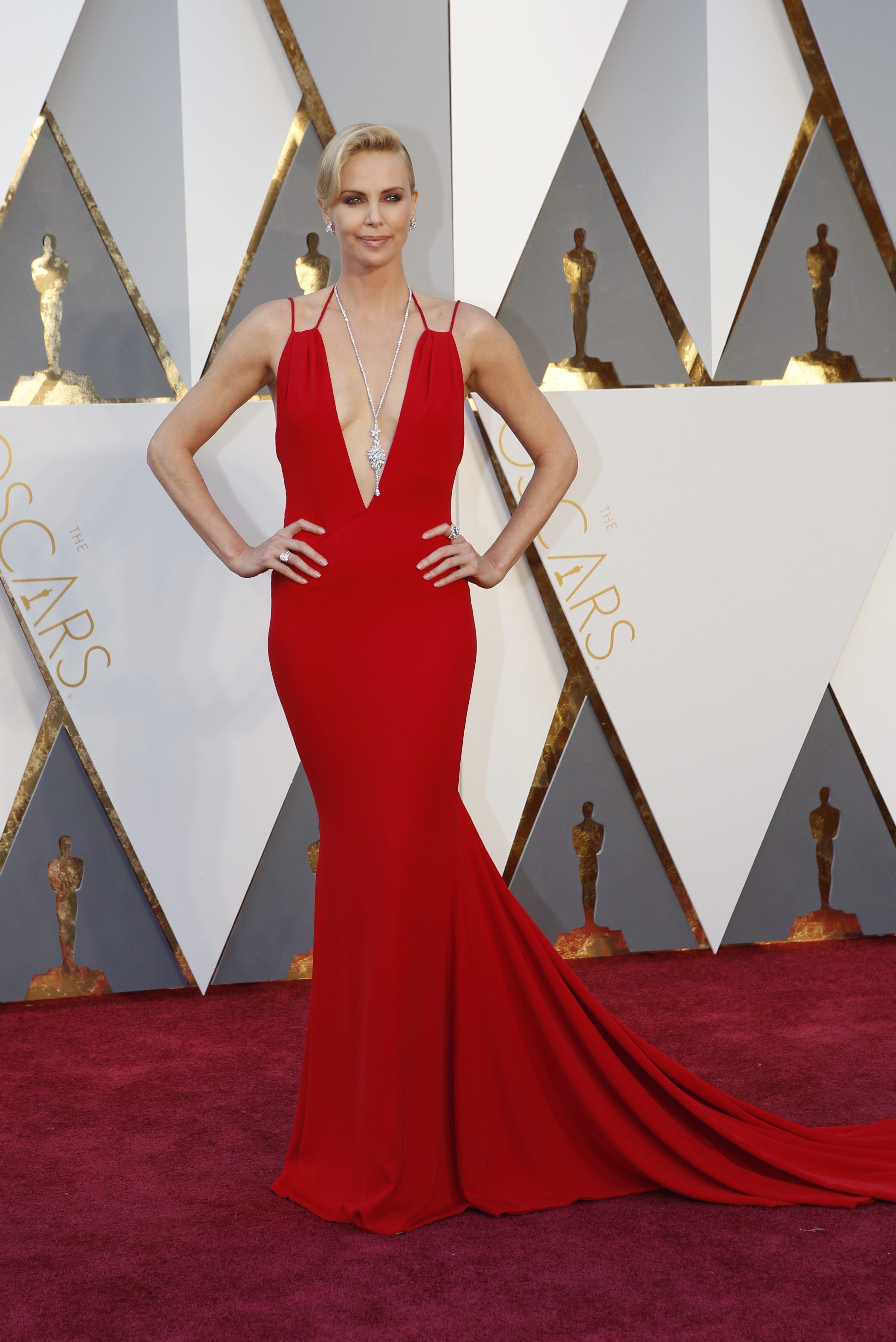 Charlize Theron at the 88th Academy Awards.