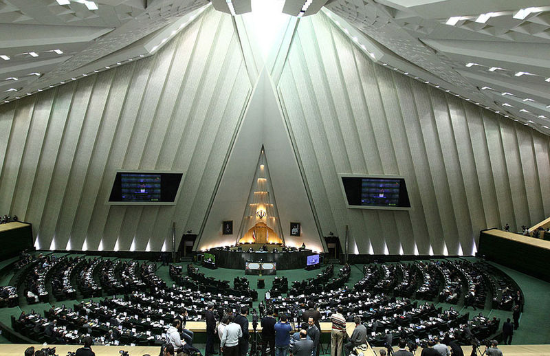 Inside of the Iranian Parliament. (Photo by Mahdi Sigari/Wikipedia)