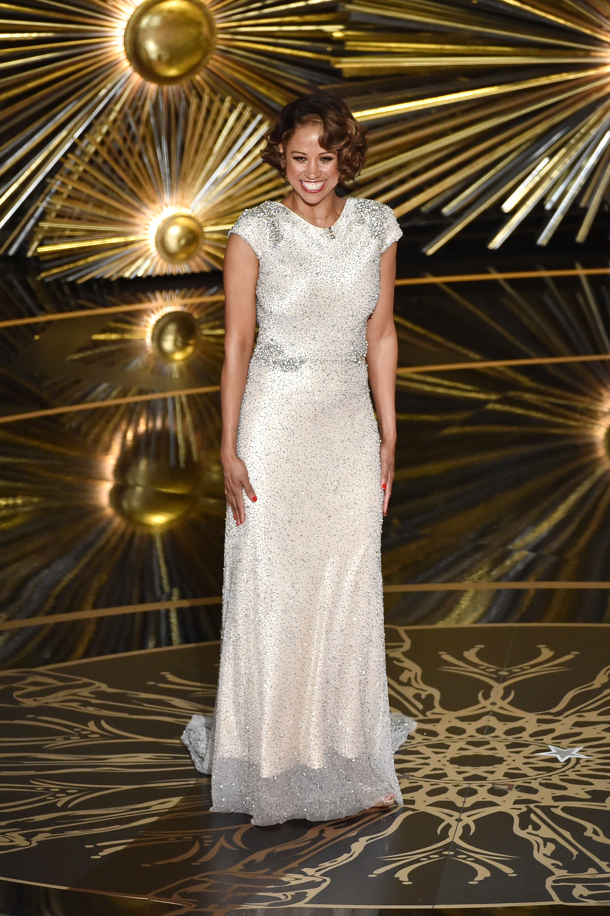 Stacey Dash confuses audience at the 88th Annual Academy Awards. (Photo courtesy of The Oscars)