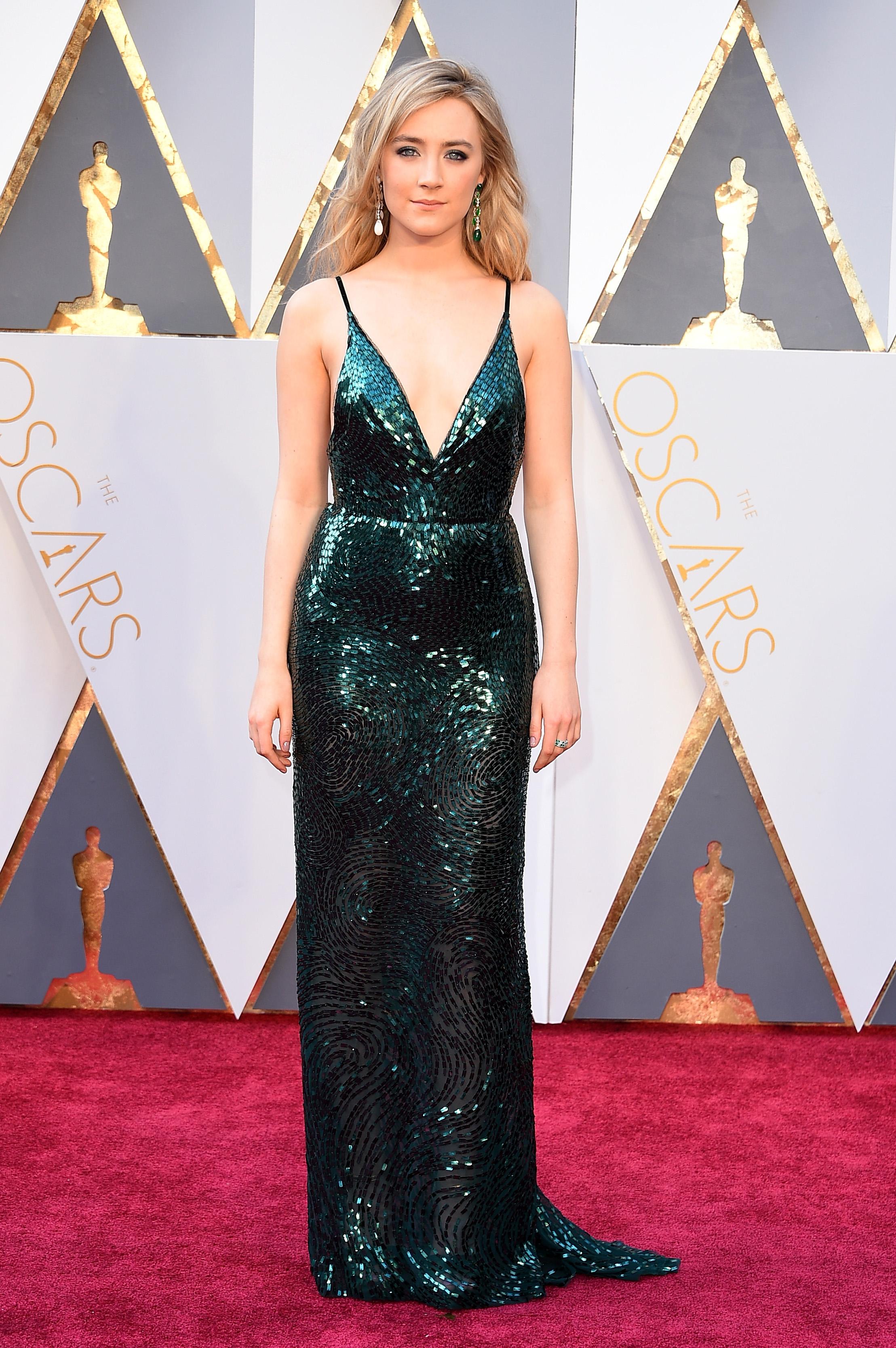 Saoirse Ronan at the 88th Academy Awards.