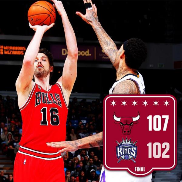 Chicago Bulls' Pau Gasol (Instagram photo)