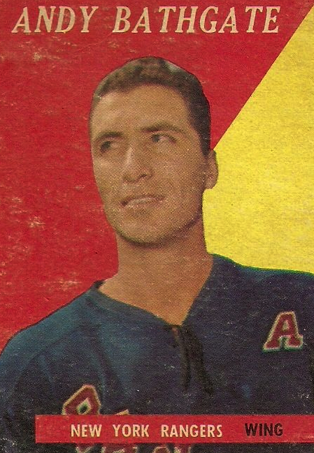 Andy Bathgate, Longtime Rangers forward and Hockey Hall of Famer Andy Bathgate died Friday, Feb. 26, 2015. He was 83. (Wikipedia photo)