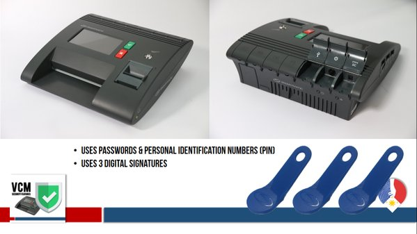 Digital signature, one of the security features of the Vote Counting Machine (VCM). (Photo courtesy of the official Twitter account of Comelec)