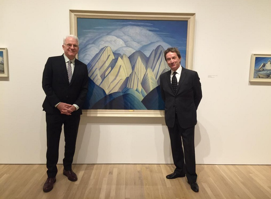 "Steve Martin at the Hammer Gallery in Los Angeles during the debut of ""The Idea of North"" in October 2015. (Photo courtesy of Martin's official Twitter account)."