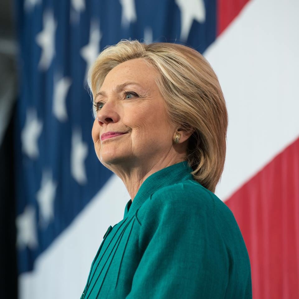Democratic candidate Hillary Clinton. (Photo from the official Facebook page of Clinton)