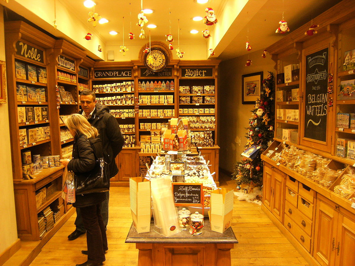 A chocolate shop in Brussels.  (Photo: Alter Fritz/Wikipedia)