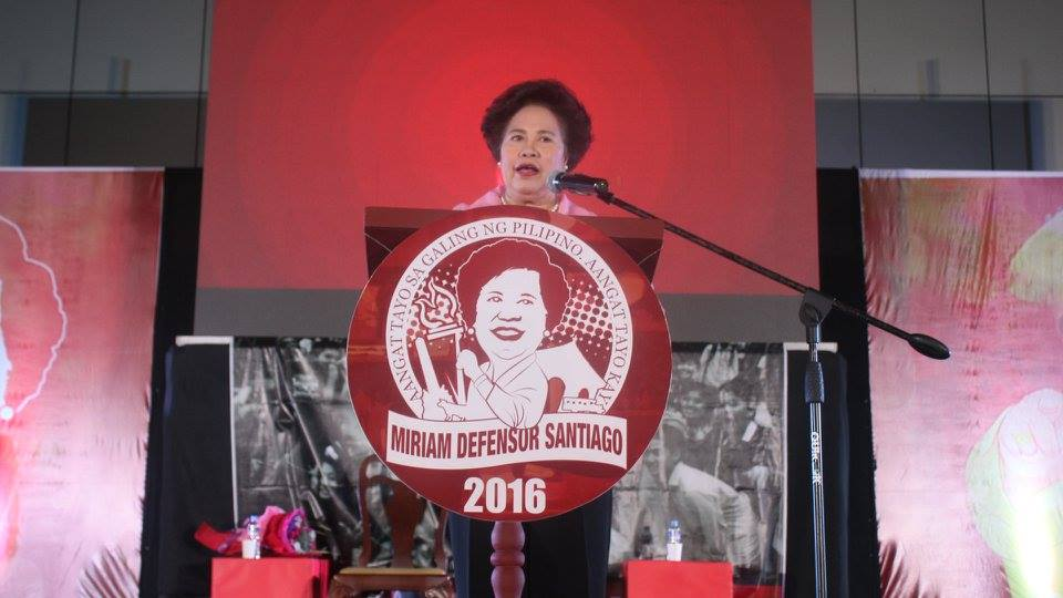 FILE: The resolutions were adopted by the Senate on Wednesday, in time for Santiago's first death anniversary on Friday, September 29. (Photo: Sen. Miriam Defensor Santiago/Facebook)