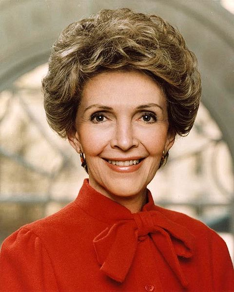 Official White House photo of Nancy Reagan, wife of former President of the United States Ronald Reagan.