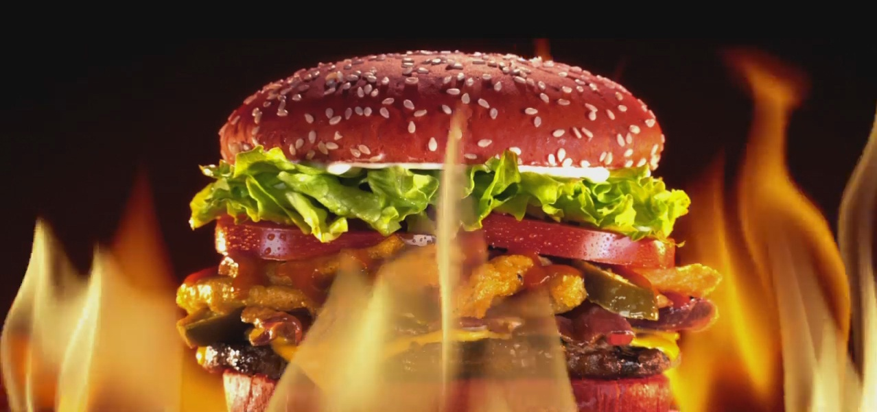 Burger King's new red hot Angry Whopper. (Photo: Burger King ad)