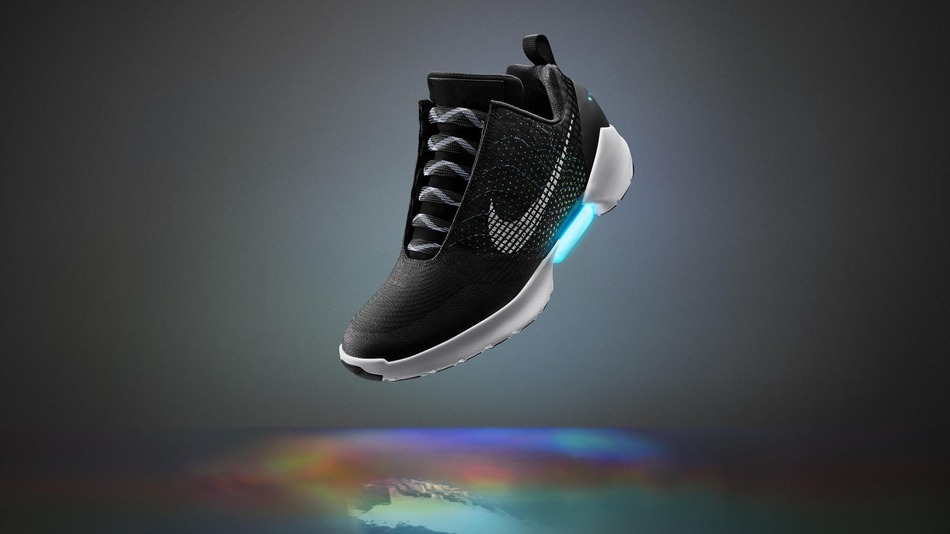 Nike Inc. has unveiled its first power-lacing sneaker – it allows users to make the fit looser or snugger on the fly by pressing buttons on the side of the shoe. (Photo: Nike)
