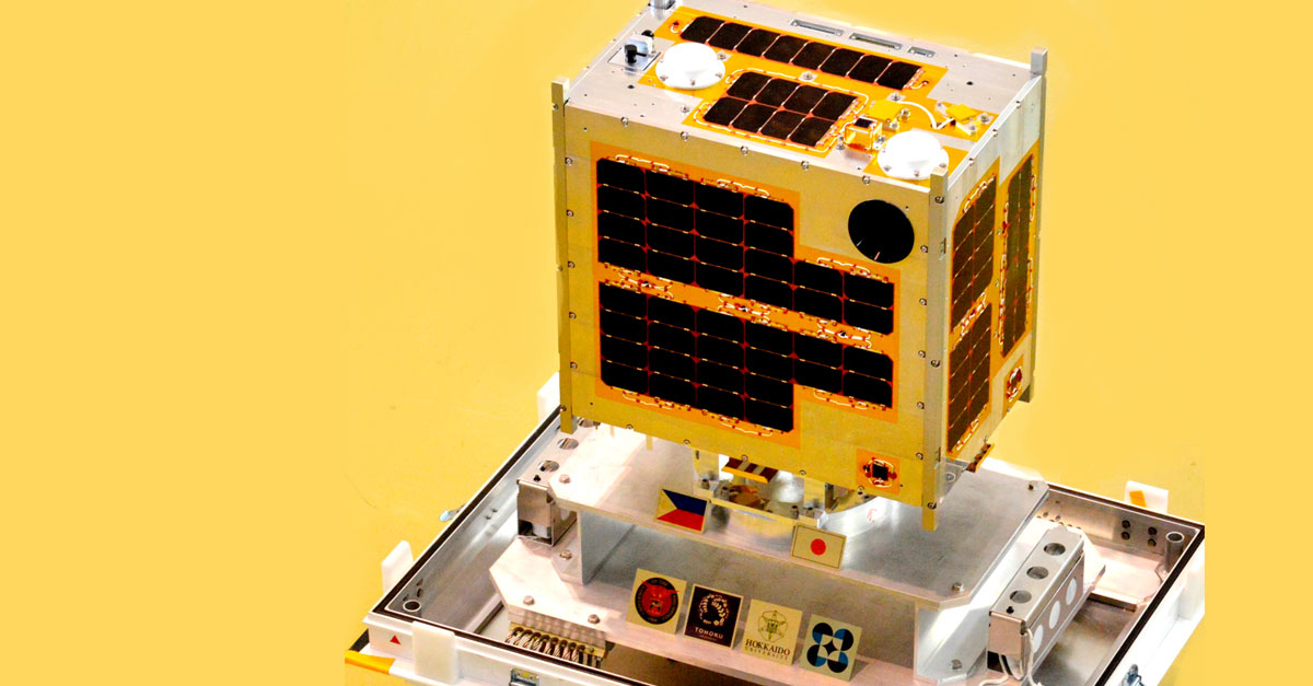 Philippines' first microsatellite, Diwata-1. (Photo: Official Gazette)