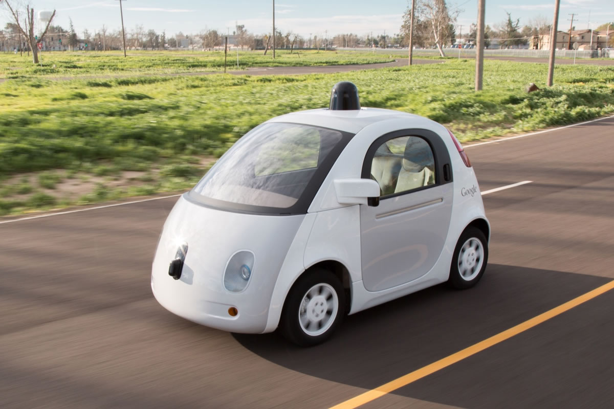 Google's self-driving car. (Photo courtesy of Google.)