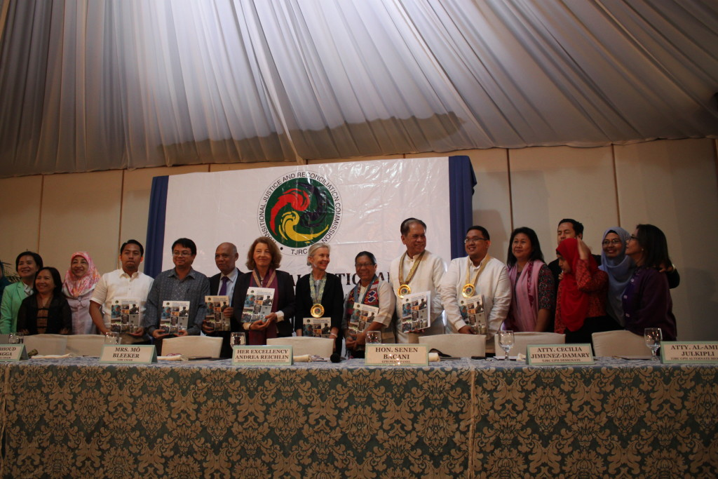 The TJRC launched its report on how to heal the wounds of war and address the grievances of the Bangsamoro in events held in Cotabato City and in Makati City in March 2016.  (Photo from OPAPP's website)