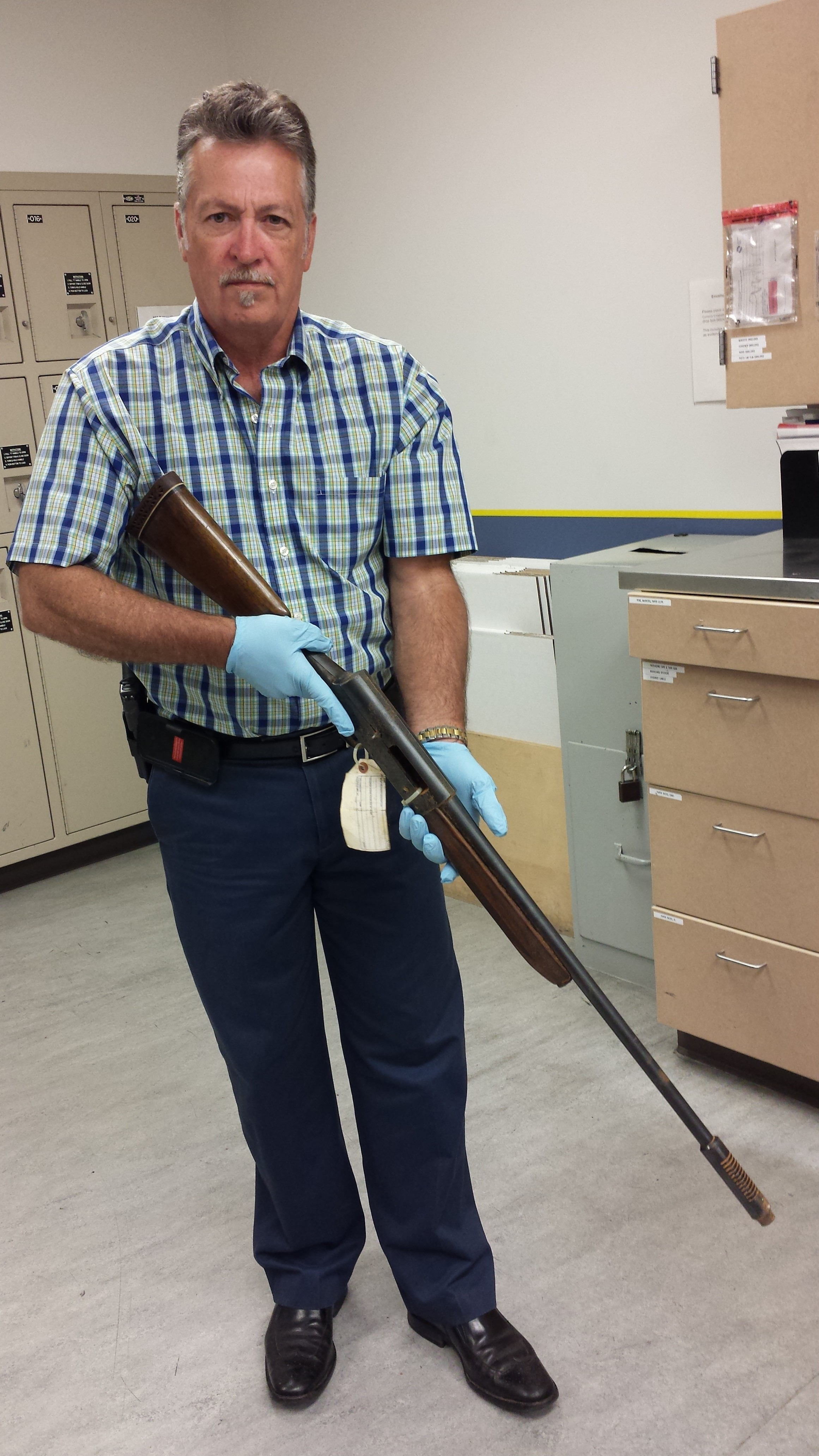 Here shows the gun musician Kurt Cobain used in his suicide. (Photo courtesy of SPD Blotter/Seattle Police Department.)