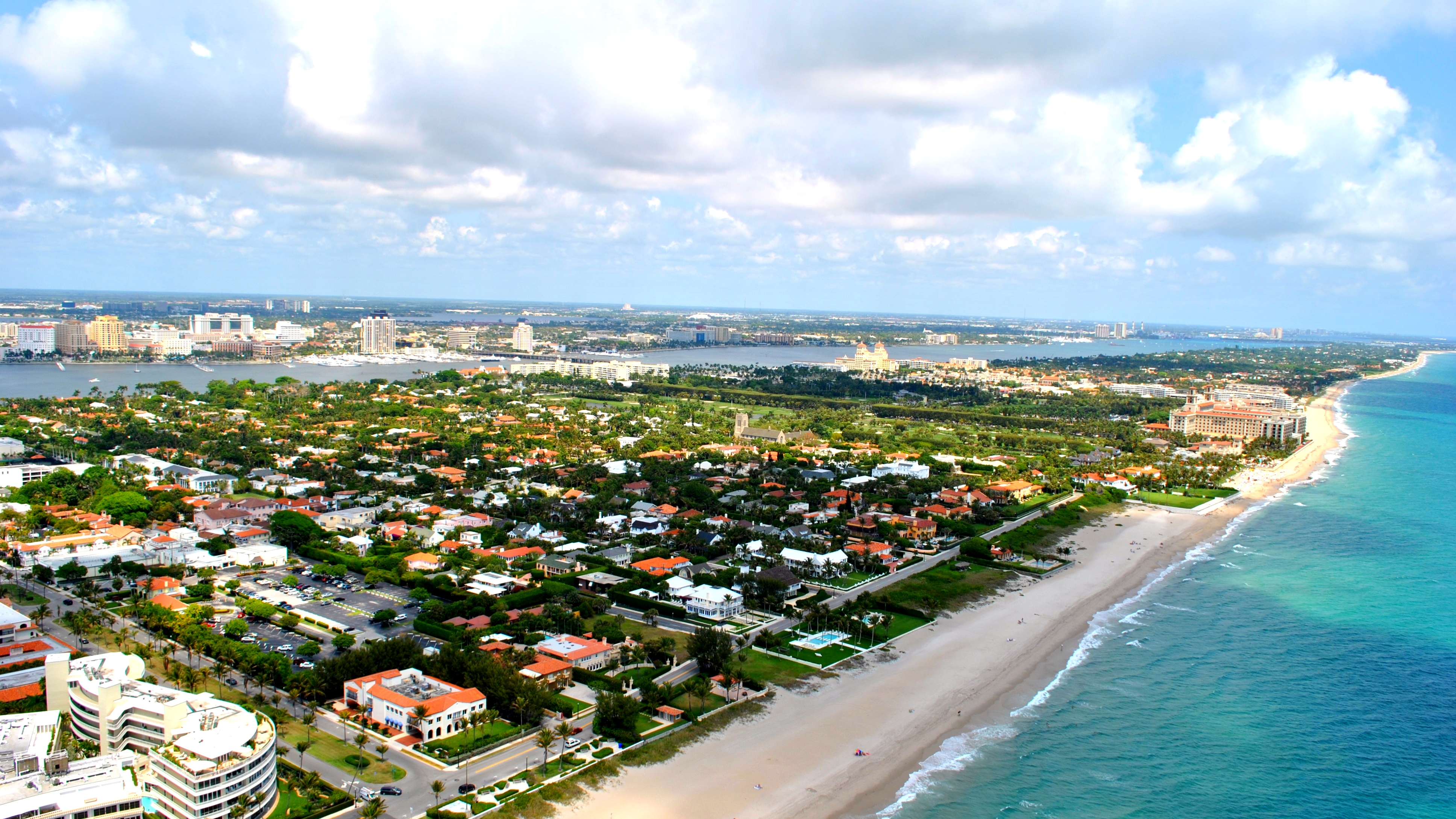 Aerial view of Palm Beach, Florida. (Photo by Michael Kagdis/Proper Media Group/Wikipedia)