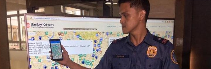 """""""Bantay Krimen"""" enables registered users to view crime incidents, call the nearest police station by pressing an icon, identify """"crime hotspots"""" and report crimes in real time. (PNA photo)"""