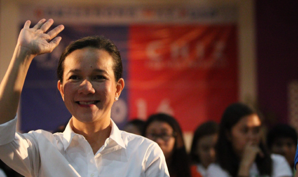 Presidential aspirant Senator Grace Poe campaigning in Iloilo. (Photo from Poe's official Facebook page)