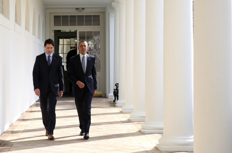 Prime Minister Justin Trudeau (left) with US President Barack Obama (right) at the White House. (Photo: Justin Trudeau | Twitter)