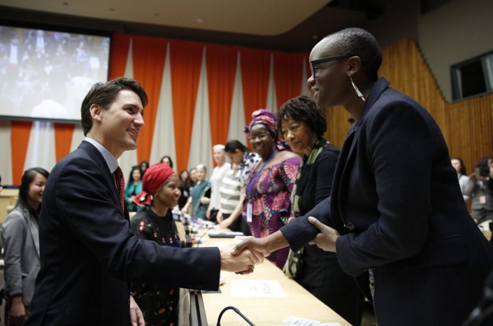 Prime Minister Justin Trudeau speaks about feminism and policies that focus on women in  New York. (Photo: Justin Trudeau | Twitter)
