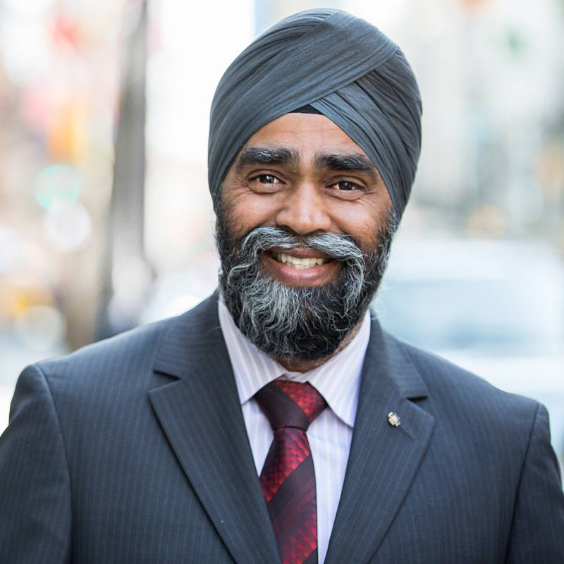 Defence Minister Harjit Sajjan (in photo) says he's beginning with a blank slate and, to kick-start the review, National Defence has produced a 35-page primer asking the public a series of broad questions. (Photo: Harjit Sajjan/Facebook)