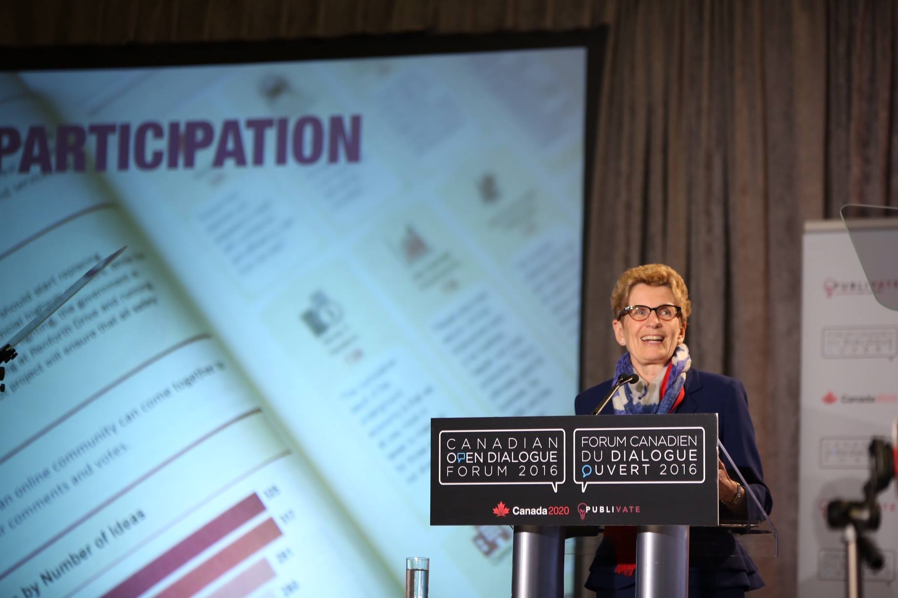 Wynne also said she would give the Tories and New Democrats time to come up with their own suggestions before the new rules are drafted. (Photo: Kathleen Wynne/Facebook)