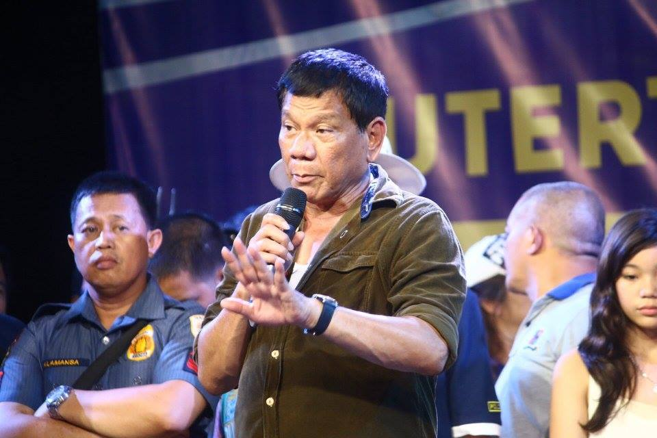 """If they could not be talked into changing, let's kill them then,"" Duterte said. (Photo: Rody Duterte/Facebook)"