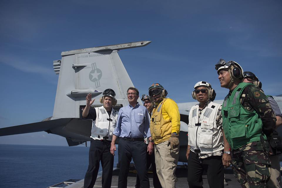"FILE PHOTO: Defence Secretary Ash Carter thanked his troops and sailors for their active participation in the Philipine-US Exercise ""Balikatan"" and reiterated the significance of their presence in the region. (Photo: U.S. Department of Defense/Facebook)"