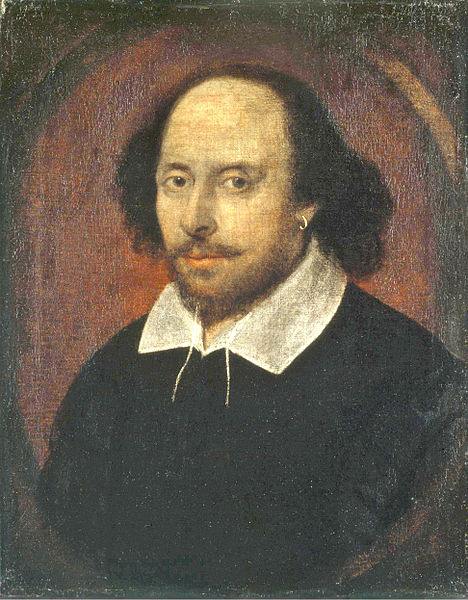The Chandos portrait of William Shakespeare (Photo courtesy of the National Portrait Gallery, London)
