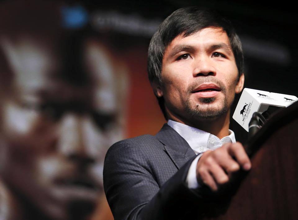"Boxing champ Manny ""Pacman"" Pacquiao is fighting his case against the BIR from collecting an alleged tax deficiency of over Php 2.2 billion plus surcharge and interest for 2008 and 2009.  (Photo from Pacquiao's official Facebook page)"