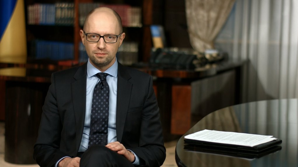 In his weekly televised address, Arseniy Yatsenyuk said his resignation would be formally submitted to parliament on Tuesday. The same day, parliament was expected to vote to elect the current speaker, Volodymyr Groysman, as the new prime minister. (Photo: Arseniy Yatsenyuk/Twitter)