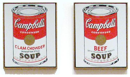 (Photo by User:Hu Totya - Image: Campbells Soup Cans MOMA.jpg, Fair use.)