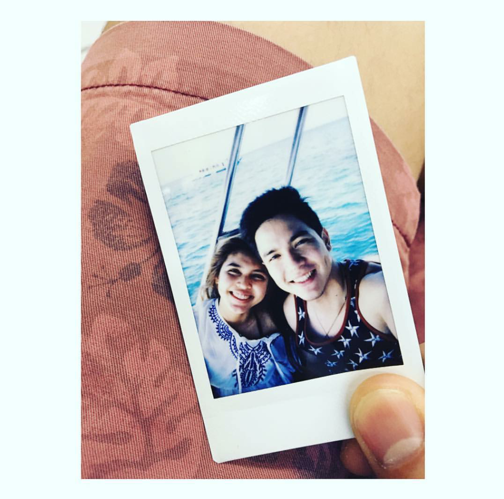 Maine Mendoza and Alden Richards in Boracay (Instagram photo from @aldenrichards02)