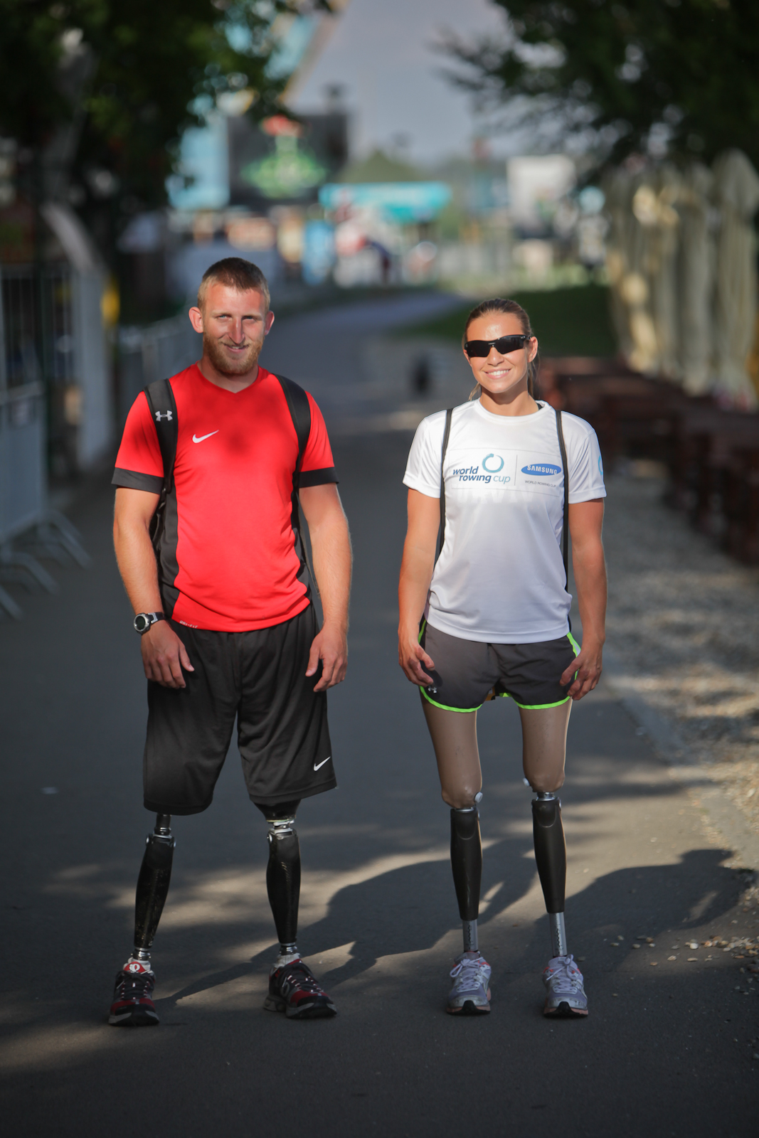 Paralympians Oksana Masters (right) and Rob Jones (left). (Photo by Vladimir Krzalic - Vladimir Krzalic, CC BY-SA 3.0.)